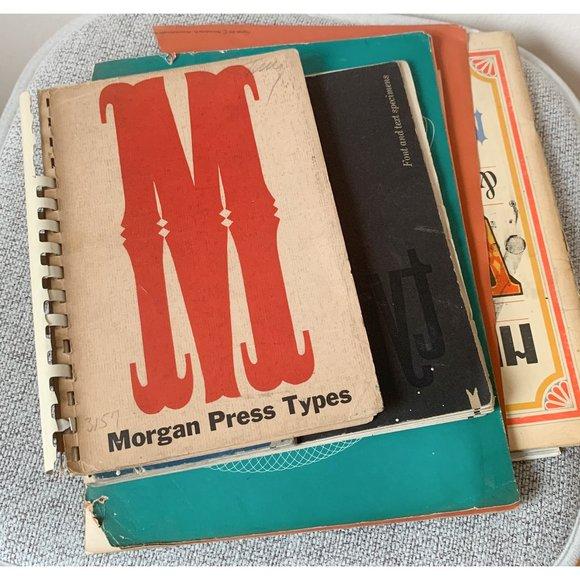 vintage typesetting books
